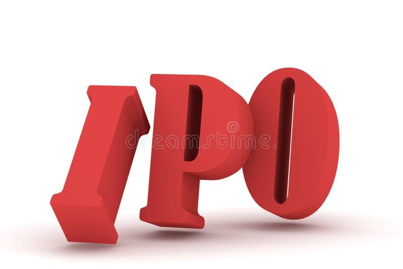 3d IPO 向量例证