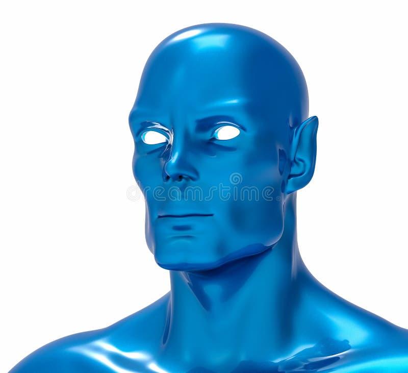 3D Isolated Fiction Humanoid Illustration vector illustration
