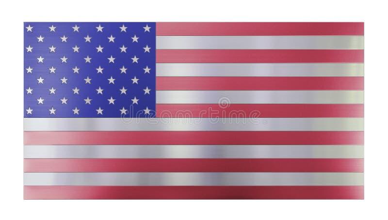 D'isolement sur le fond moderne frais blanc, drapeau d'isolement des Etats-Unis fabriqué à partir de différents types de planches illustration stock