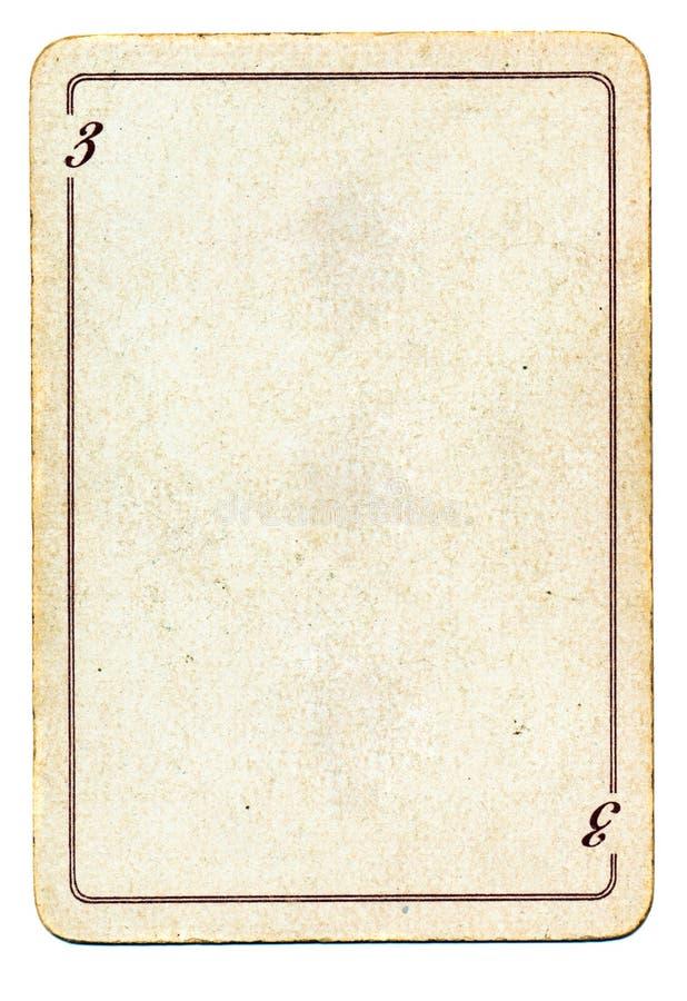 carte de jeu vierge D'isolement Sur Le Vieux Papier Blanc De Carte De Jeu Avec Le