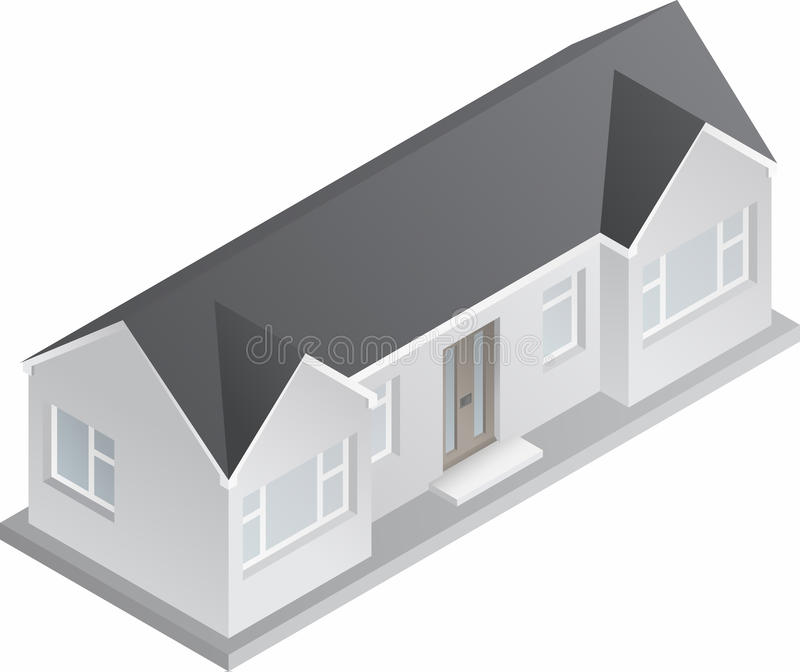 3d Isometric Bungalow Stock Vector Image Of Construction