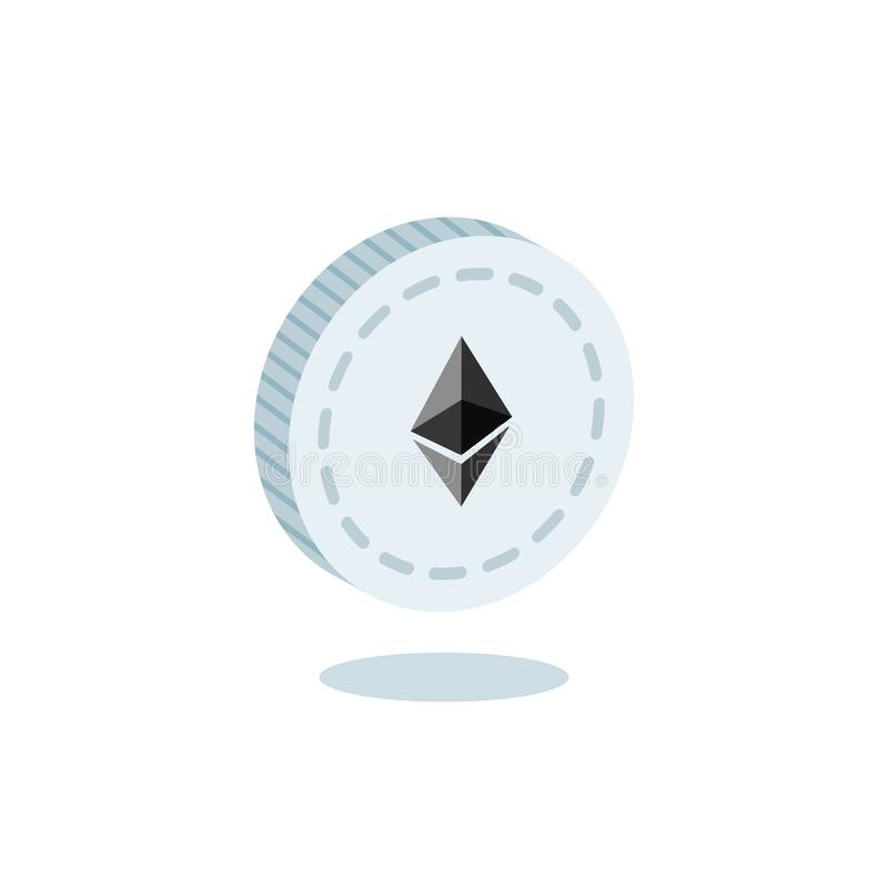 3d isometric Ethereum Symbol Vector stock illustration