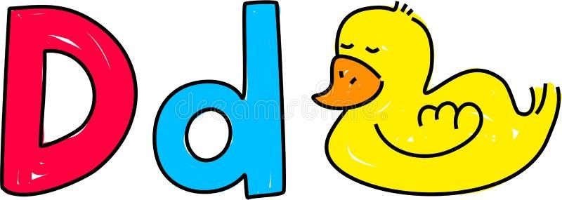 D ist für Ente lizenzfreie abbildung