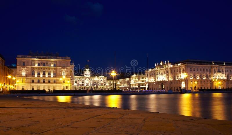d'Italia d'unità de Piazza, Trieste photos libres de droits
