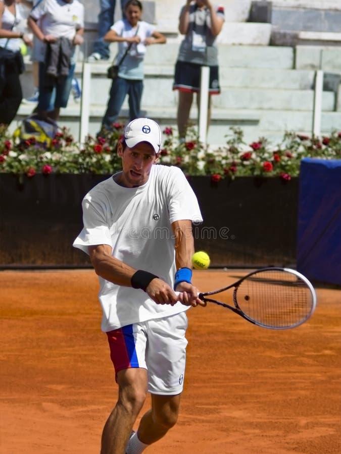D'Italia de Novak Djokovic - d'Internazionali BNL image stock