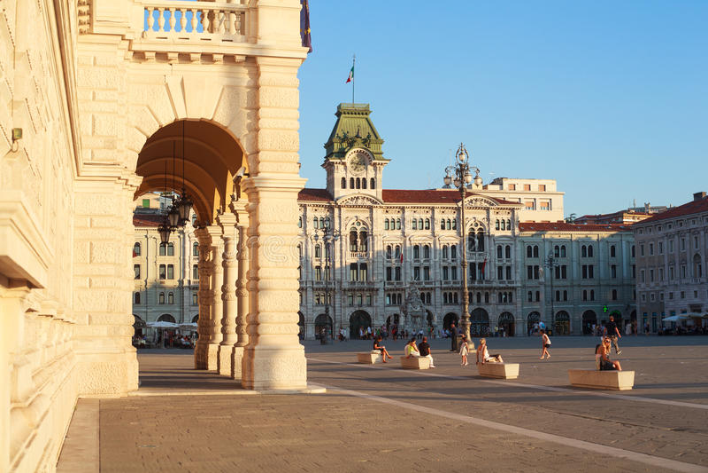 D'Italia de Unità de la plaza, Trieste imagen de archivo libre de regalías