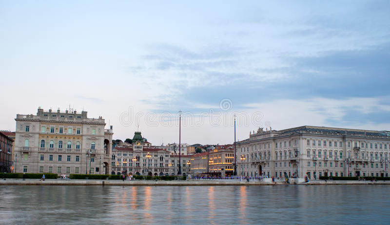 d'Italia del unità de la plaza, Trieste fotos de archivo