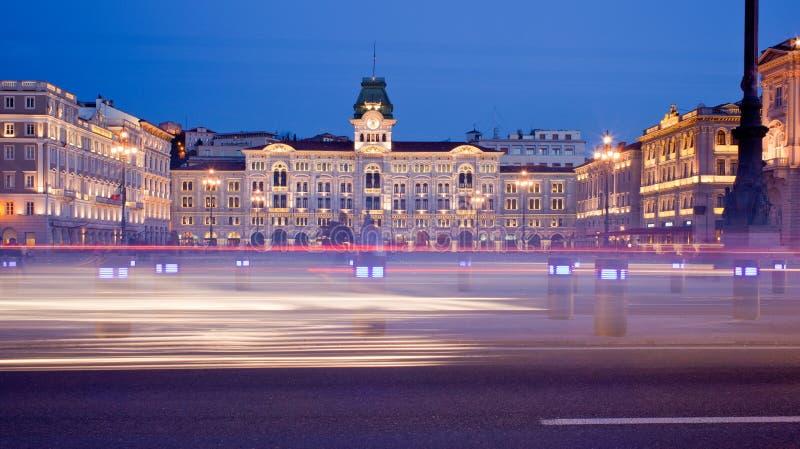 d'Italia del unità de la plaza, Trieste imagen de archivo