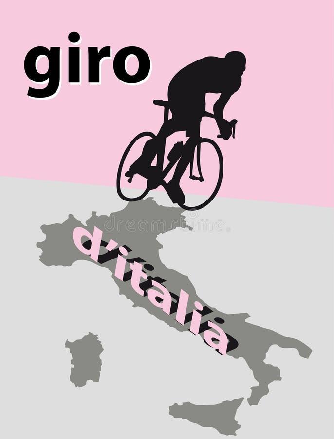 d'Italia do Giro ilustração do vetor