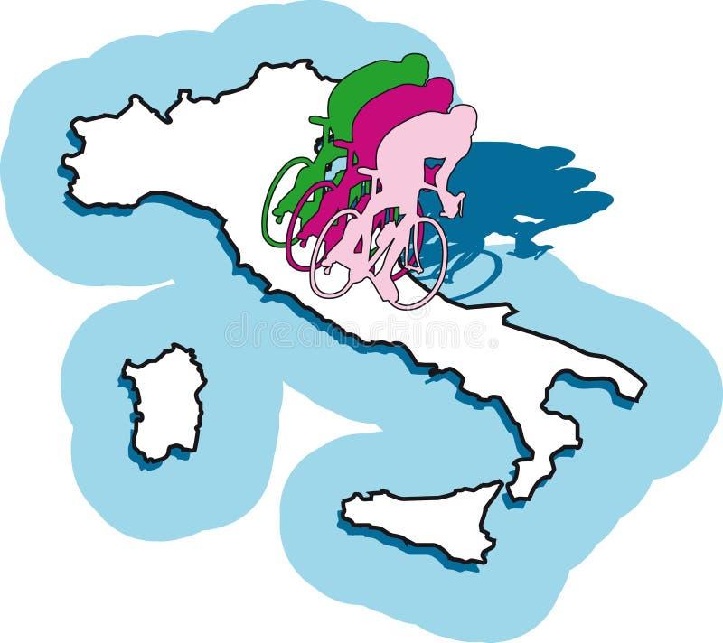 d'Italia do Giro ilustração royalty free