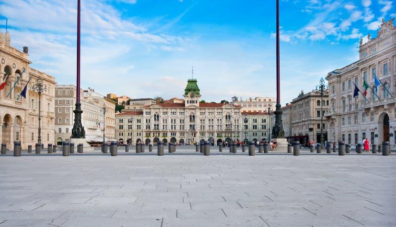 d Italia piazza Trieste jednostka obrazy stock