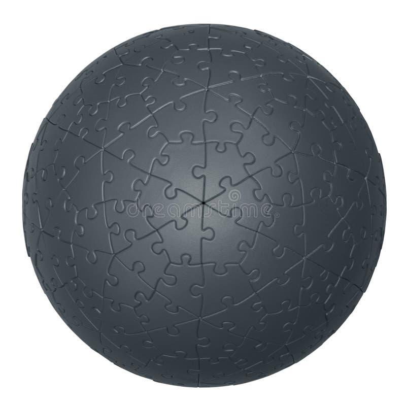 3D jigsaw puzzle ball stock photos