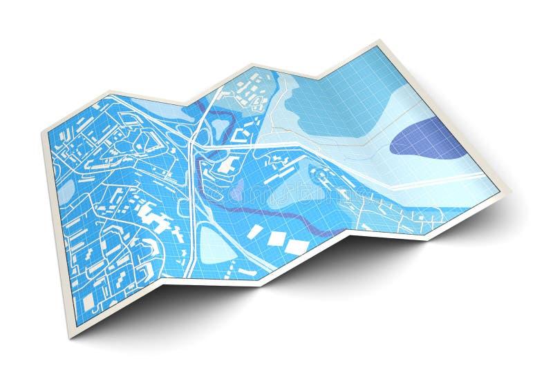 3d kaart royalty-vrije illustratie