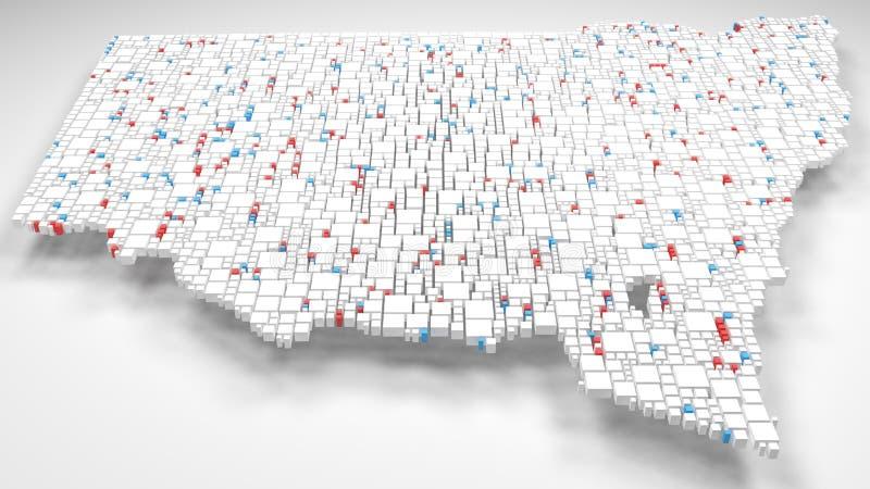 3D Kaart van Nieuw Zuid-Wales