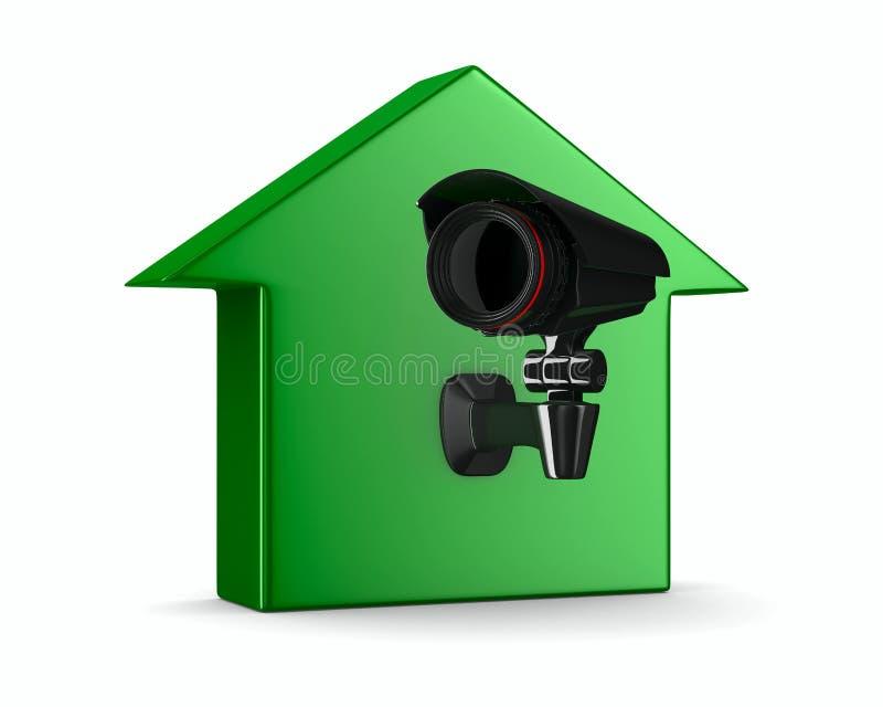 3d kamery domu wizerunku odosobniona ochrona ilustracji
