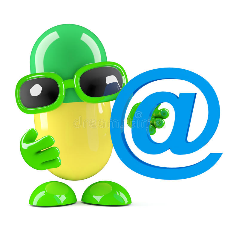 3d kapsuła emaila adres royalty ilustracja
