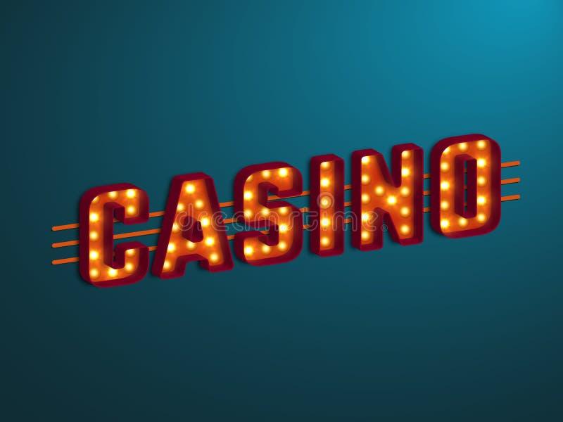 3d kasyna retro znak royalty ilustracja