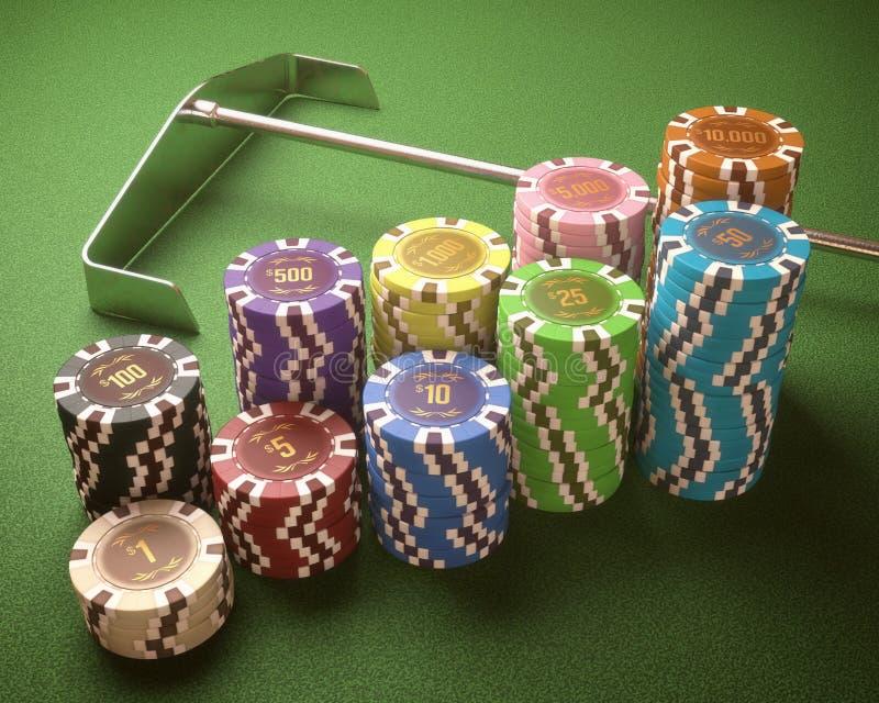 3d kasyno szczerbi się ilustrację obrazy stock