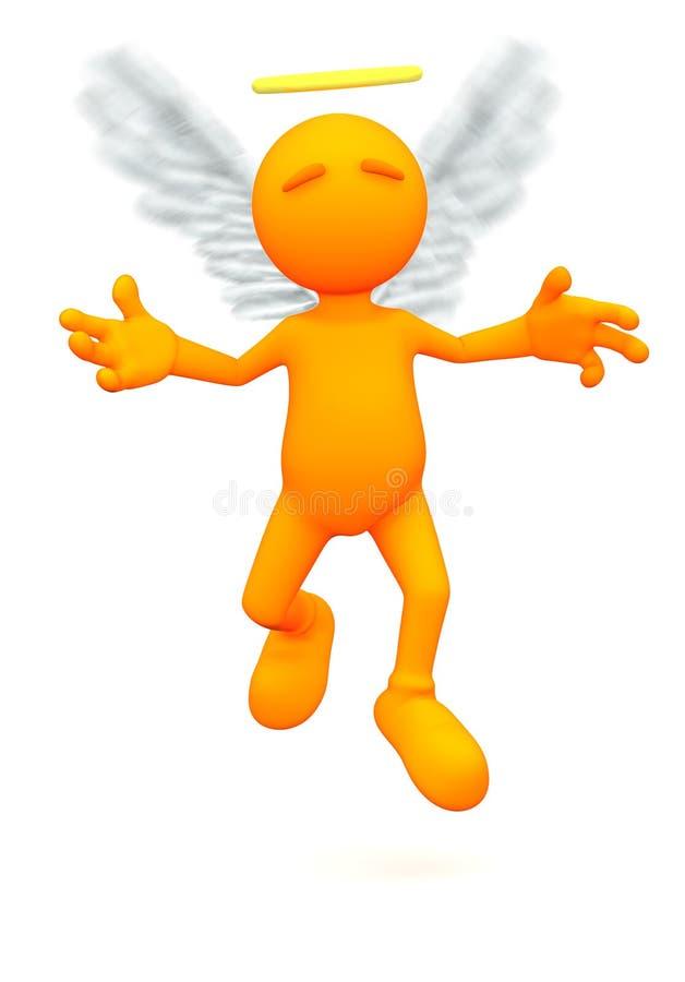 3d Kerel: Angel Flying in Lucht vector illustratie