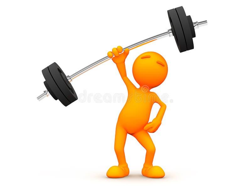 3d Kerel: Gemakkelijk om Gewichten op te heffen vector illustratie