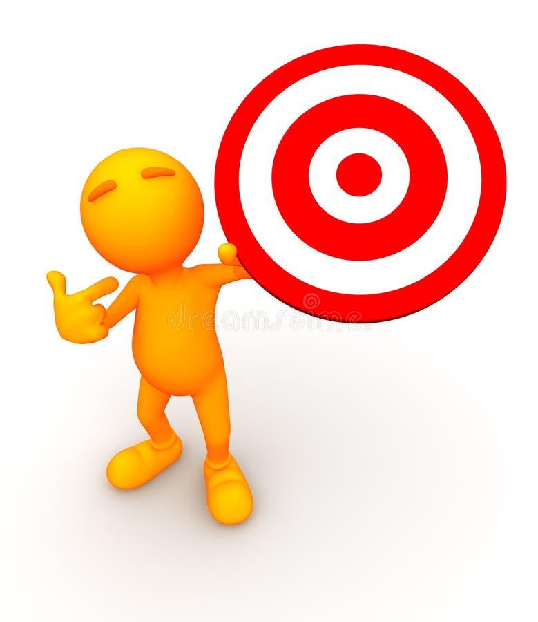 3d Kerel: Het steunen van een Bullseye vector illustratie