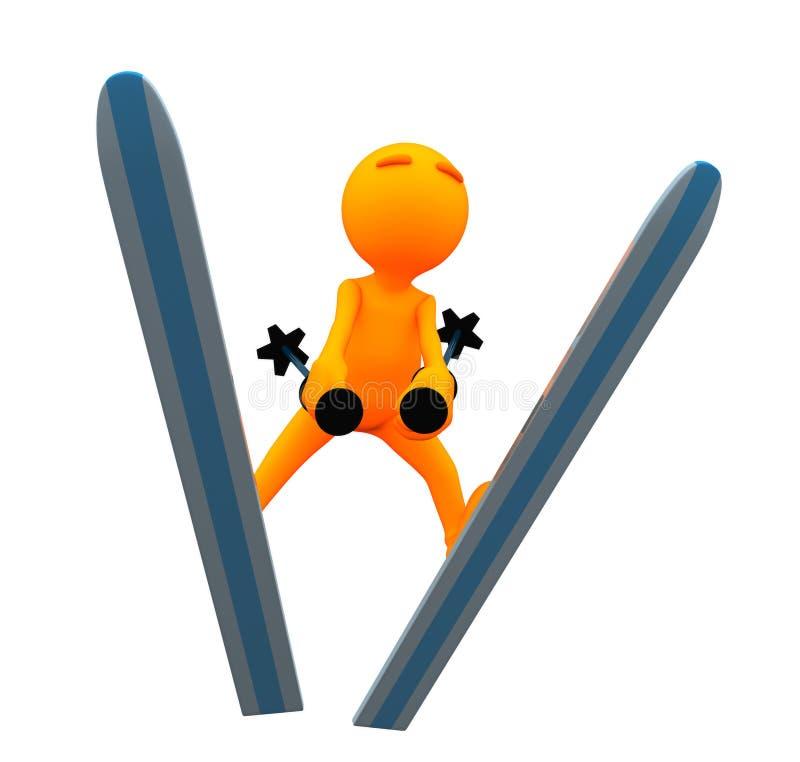 3d Kerel: Olympisch Ski Jumper vector illustratie