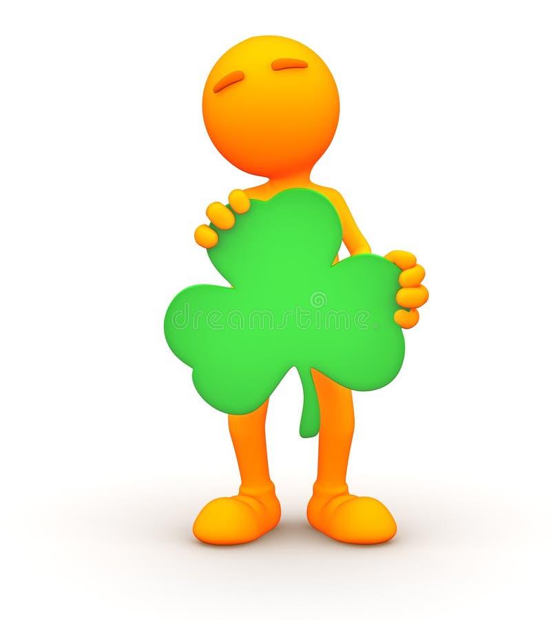 3d Kerel: St Patrick ` s Dagmens vector illustratie