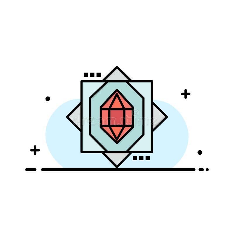 3d, Kern, het Vormen zich, Malplaatje Ontwerp van de Bedrijfs het Vlakke Lijn Gevulde Pictogram Vectorbanner vector illustratie