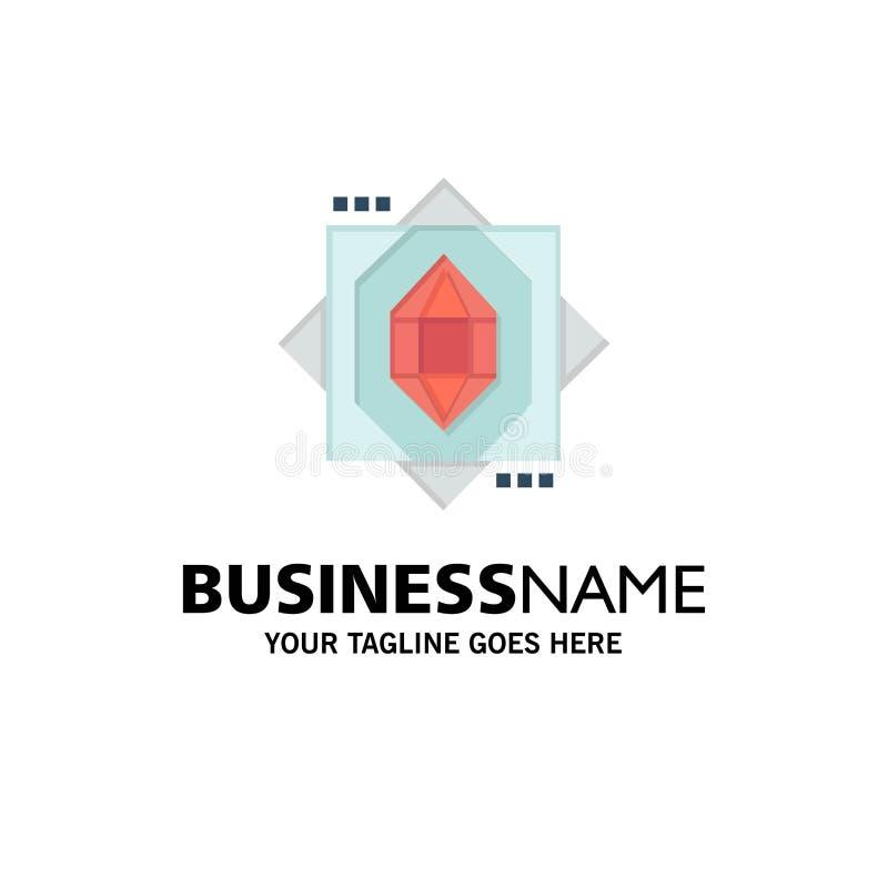 3d, Kern, het Vormen zich, Ontwerpzaken Logo Template vlakke kleur stock illustratie