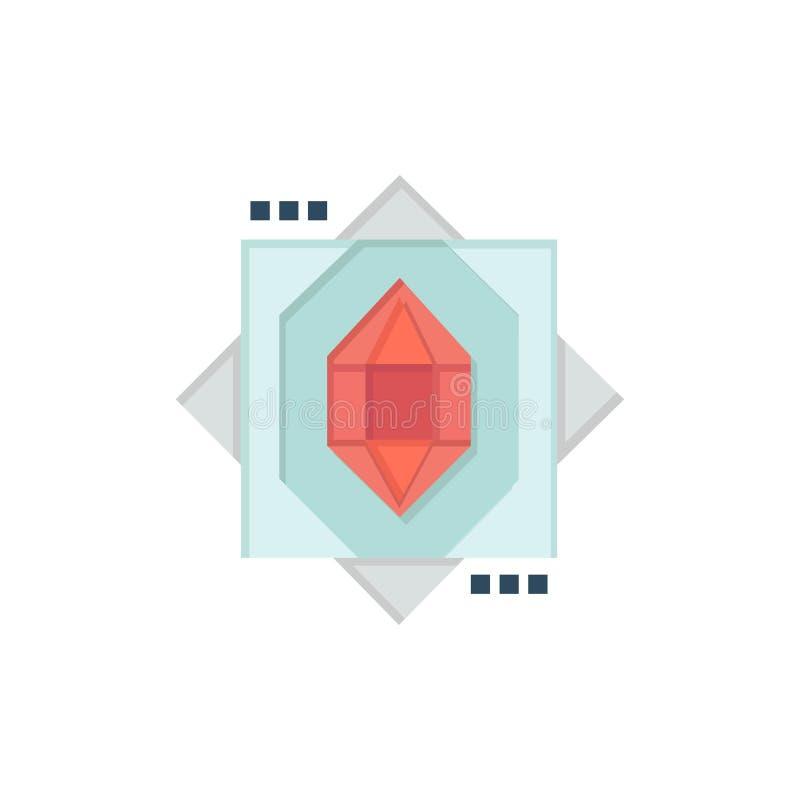 3d, Kern, het Vormen zich, Pictogram van de Ontwerp het Vlakke Kleur Het vectormalplaatje van de pictogrambanner vector illustratie
