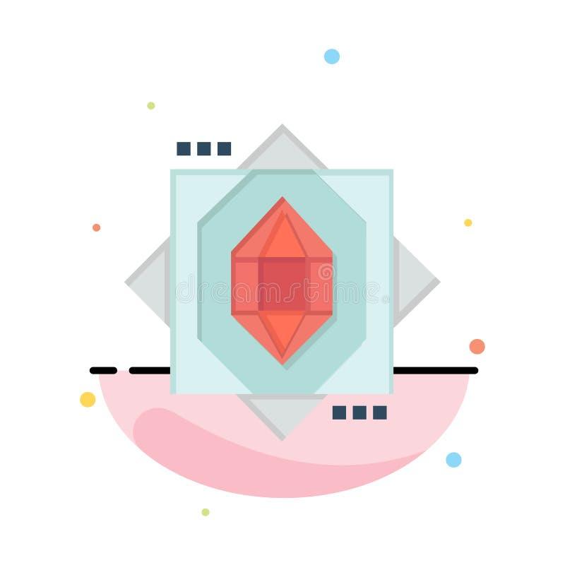3d, Kern, het Vormen zich, het Pictogrammalplaatje van de Ontwerp Abstract Vlak Kleur vector illustratie