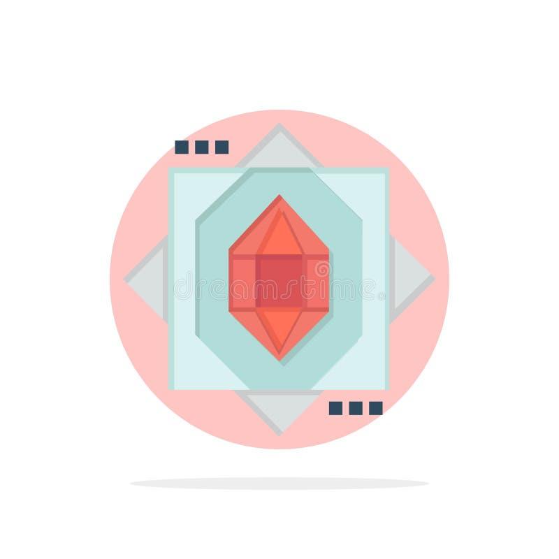 3d, Kern, het Vormen zich, van de Achtergrond ontwerp Abstract Cirkel Vlak kleurenpictogram royalty-vrije illustratie