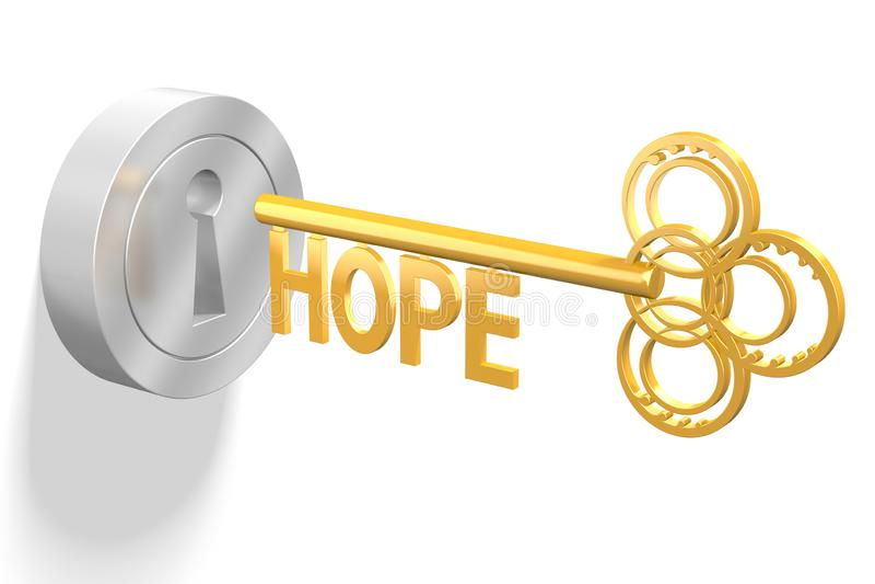 3D key concept - hope royalty free illustration