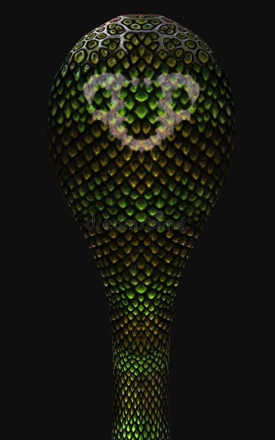 d king cobra world s longest venomous snake isolated dark background clipping path illustration rendering 184120608
