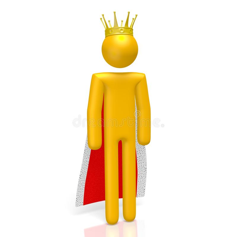 3D king concept. 3D cartoon character - king concept - great for topics like power, authority etc vector illustration