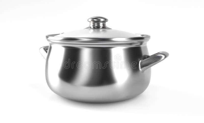 3d kitchen pan concept. 3d rendered illustration royalty free illustration