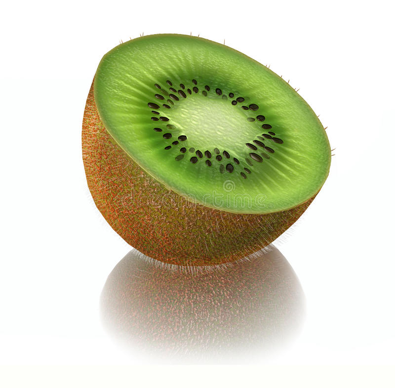 3d Kiwi Fruit stock abbildung