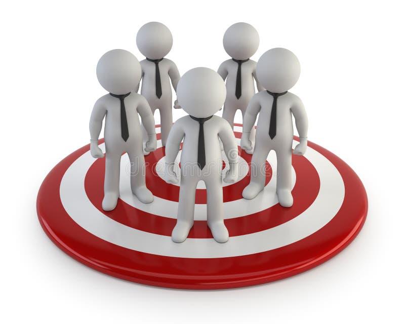 3d kleine Leute - Führungs-Management lizenzfreie abbildung