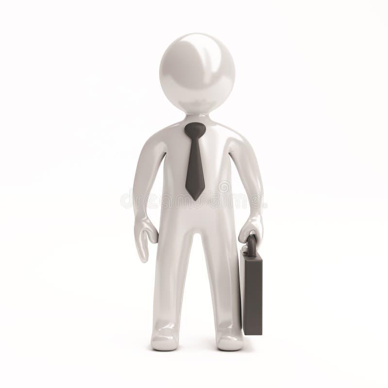 3d kleine Leute - Geschäftsmann stock abbildung