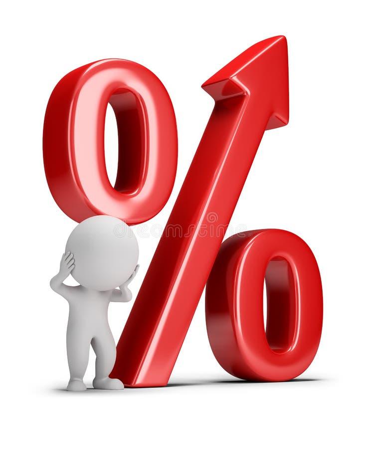 3d kleine Leute - wachsender Prozentsatz lizenzfreie abbildung