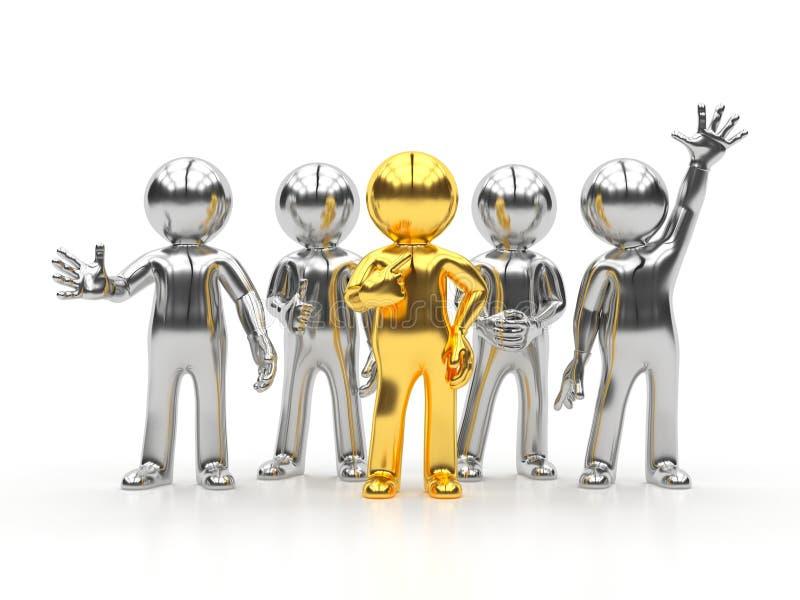 3d kleine mensen - beste groep stock illustratie
