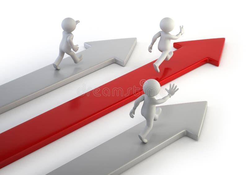 3d kleine mensen - concurrentievoordeel vector illustratie