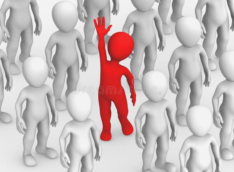 3d kleine mensen Het concept van de keus stock illustratie