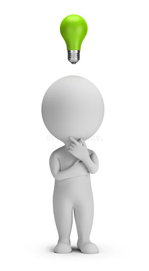 3d kleine mensen - idee stock illustratie