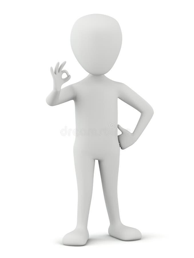 3d kleine mensen - O.K. allen! vector illustratie