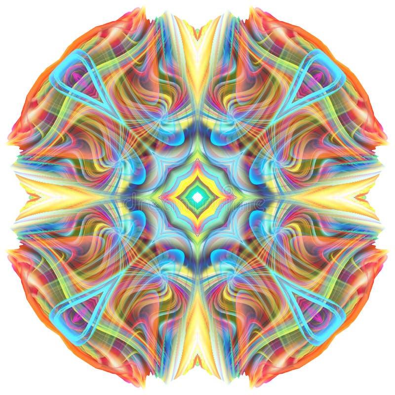 3D kleurrijke mandala royalty-vrije illustratie