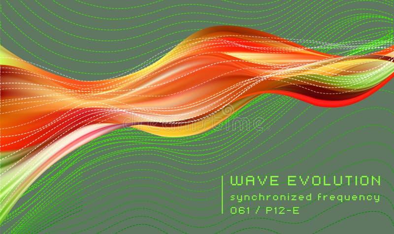 3D Kleurrijke samenvatting verdraaide stroom van de fluidevorm In vloeibaar ontwerp royalty-vrije illustratie