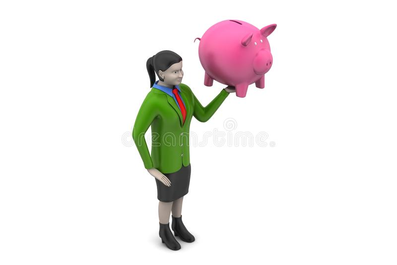 Download 3d Kobiety Z Inwestorskim Pojęciem Ilustracji - Ilustracja złożonej z indywidualność, kontrast: 53778281