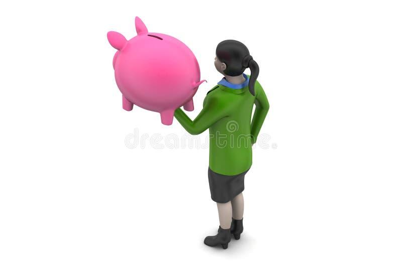 Download 3d Kobiety Z Inwestorskim Pojęciem Ilustracji - Ilustracja złożonej z indywidualność, inwestycja: 53778397