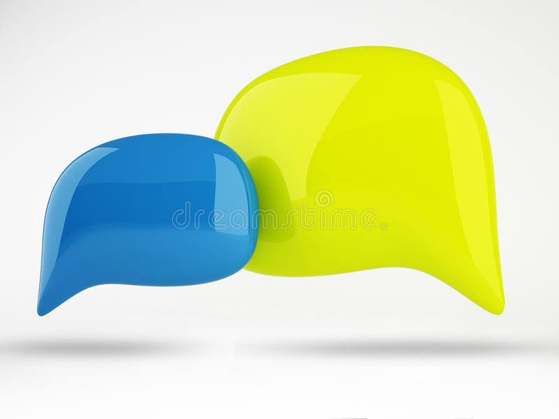 3D kolor mowy bąbli projekt ilustracji